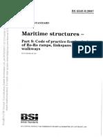 British Standard- Maritime Structure (BS 6349-8 2007)