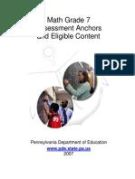 Assessment Anchors Math Grade 7