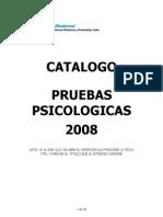 CATALOGO PRUEBAS PSICOLOGICAS  2008