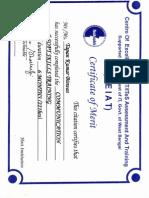 CEIAT Sample Certificate 0001