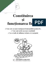 Constituirea Si Function Area Firmei