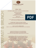 Breakfast and Brunch Menus New