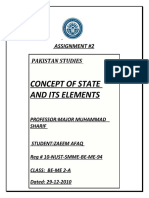 Concept of a State and Its Elements