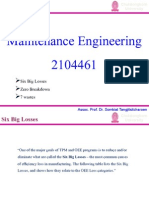 Maintenance Engineering(8th Week)