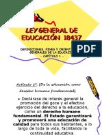 LEY GENERAL DE EDUCACIÓN  18437