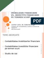 tea Imob re vs Investitii Fin Pe Termen Scurt