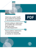 Veterinaries Public Health and Control of Zoonoses in Developing Countries