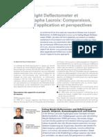 2008 - Comparaison FWD et Déflectographe Lacroix
