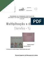 ensinar multiplicação e divisao