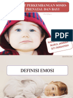 Perkembangan Sosioemosi Bayi Sehingga Prenatal
