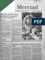 The Merciad, March 23, 1989