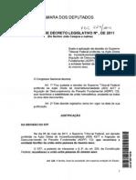 Decreto Legislativo de Sustação da decisão do STF sobre União Gay.