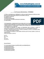 Folha Dirigida - Questões de Processos Administrativos - Petrobras(www.concurseirosdobrasil.net)