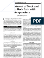 Neck pain JCM 1992 38 22-26
