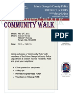District IV Community Walk Flyer