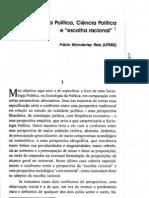 Sociologia política, ciência política e escolha racional