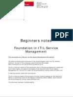 Itil Beginners Guide - A Six Sigma Bonus