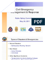 Civil Emergency - Management and Response