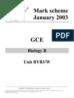Aqa Biol b Unit 3 Jan03 Ms