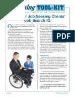 Test Your Job-Seeking Clients' Job-Search IQ