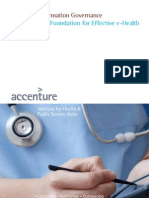 Accenture HealthPS Information Governance the Foundation for Effective E-Health