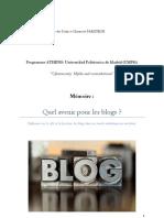 Réflexion sur le rôle et la fonction des blogs dans un monde médiatique en mutation