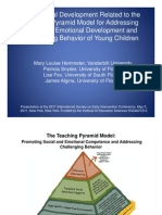 Professional Development Related to the Teaching Pyramid Model for Addressing the Social Emotional Development and Challenging Behavior of Young Children