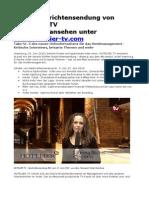Neue Nachrichtensendung Von HOTELIER ...