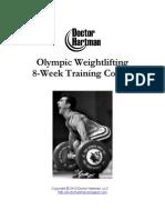Olympic Lifting Program Hartman Training Course