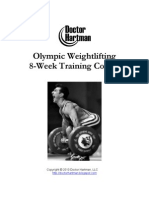 Olympic Lifting Program Hartman Training Course