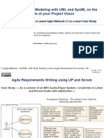 Agile and Smart Modeling With UML and SysML on a Case Study