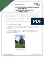 Guatemala Principales Centros Turisticos