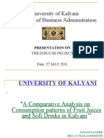 A Comparative Analysis on Consumption patterns of Fruit Juices and Soft Drinks in Kalyani''