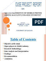 """Brand Preference of Mobile Phones among KALYANI'S College Students"""