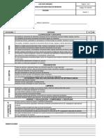 Lista de Chequeo 5S y Segregacion Adecuada de Residuos