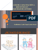 DIAPOSITIVAS TALLER EQUIDAD DE GÉNERO