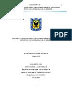 Lineamientos vigilancia en salud publica y vacunación ante encuentro deportivo copa mundial Sub 20 Bogota