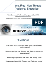 Mac, iPhone, iPad- New Threats in the Traditional Enterprise