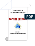 Raport Special - IAS 11 Contracte de Constructii