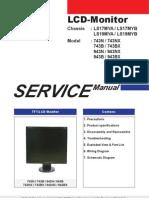Samsung Monitor LCD 743N 743B 943N 943B Chassis LS17MY LS19MY Service Manual