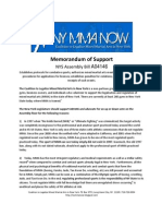 Memorandum of Support A04146