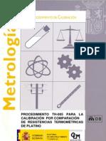 PROCEDIMIENTO TH-005 PARA LA CALIBRACIÓN POR COMPARACIÓN