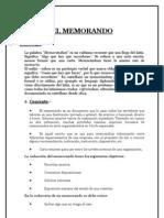 EL MEMORANDO-Trabajo