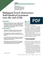 Obstruccion Intestinal Maligna 2011