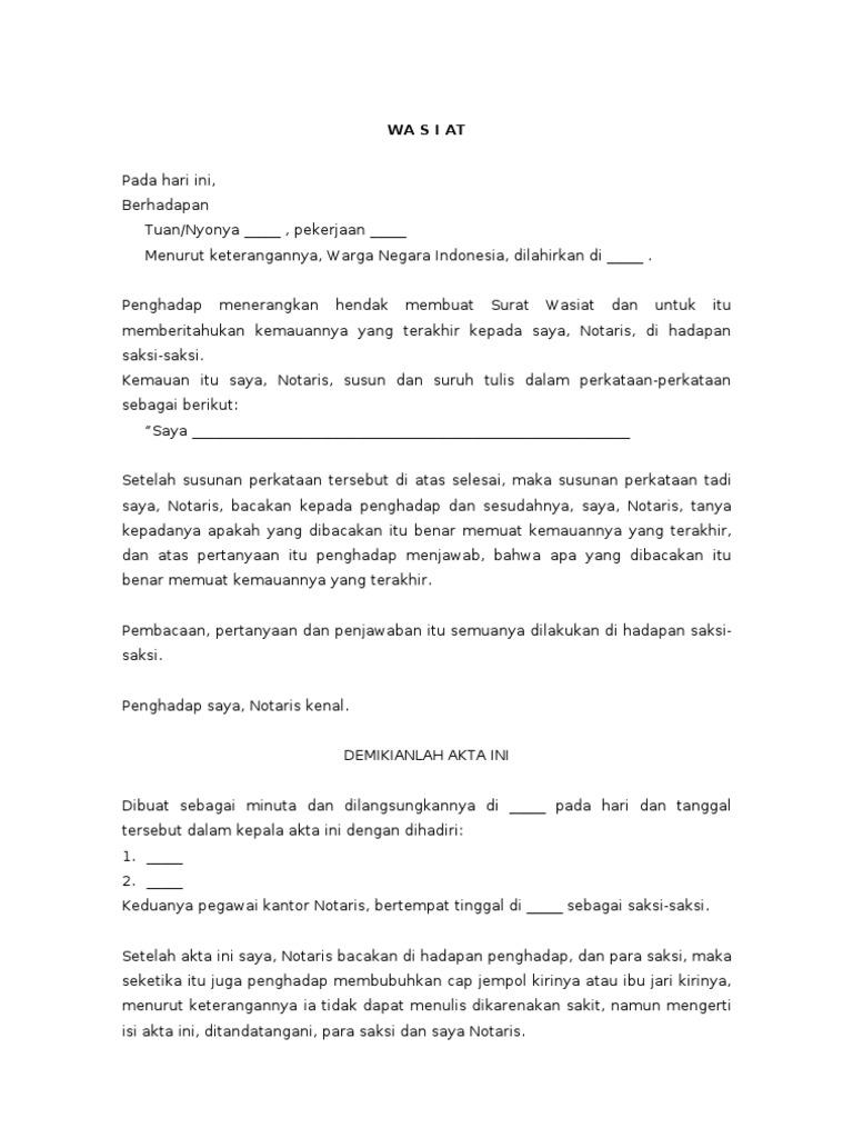 Contoh Surat Penyerahan Tanah Kepada Ahli Waris - Surat 10