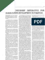 Entrepreneurship Imperative for Agribusiness Development in Pakistan