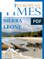 Sierra Leone takes centre stage in The European Times Magazine