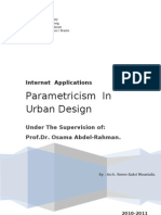 Parametric Ism in Urban Design