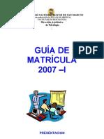 Guia de Matricula 2007-i Para La Web