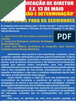 ELEIÇÕES DE DIRETORES - MG
